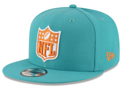 Miami Dolphins NFL Team Shield 9FIFTY Snapback Cap Hats