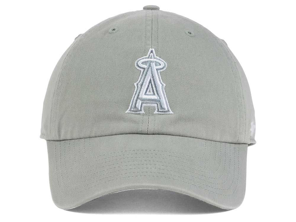 low priced eb807 4c658 durable service Los Angeles Angels  47 MLB Gray White  47 CLEAN UP Cap