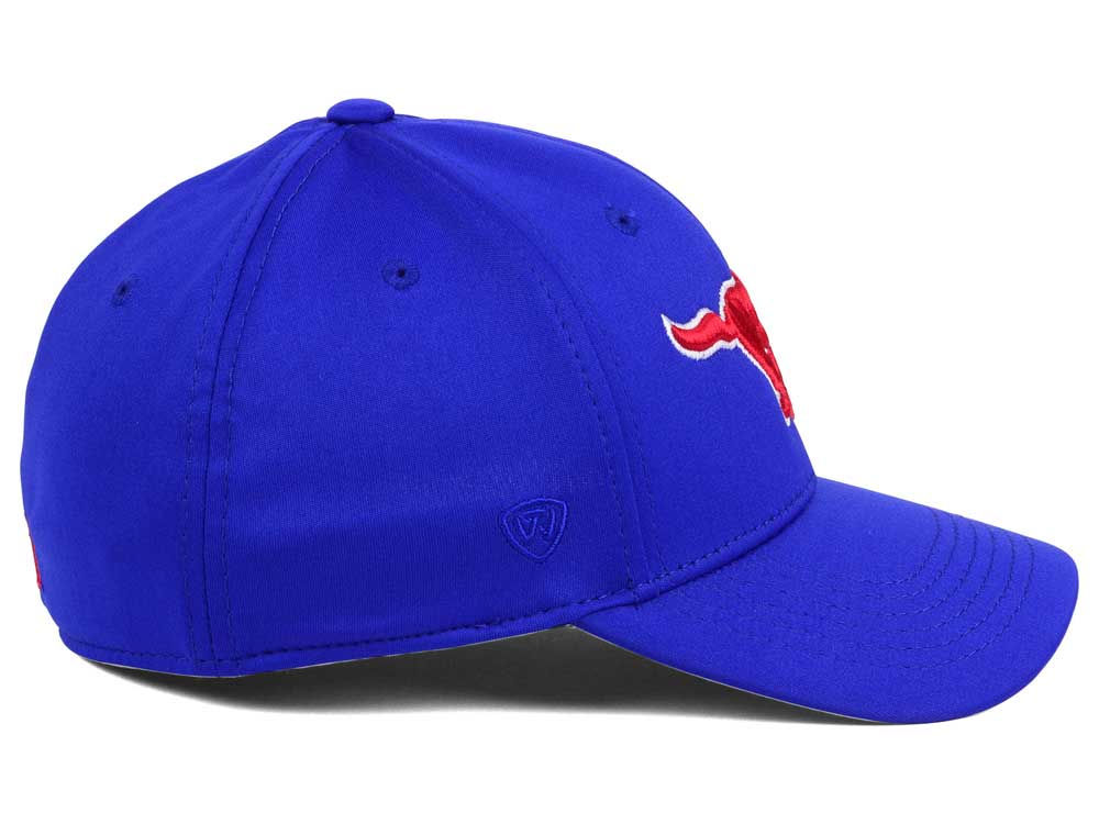 on sale 04e03 4bba7 Southern Methodist Mustangs Top of the World NCAA Rails Flex Cap 30%OFF
