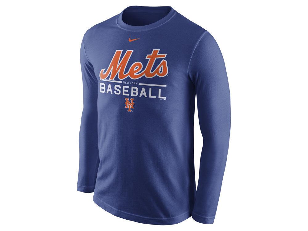 d697f1cb1 hot sale New York Mets Nike MLB Men s Cotton Practice Long Sleeve T-Shirt