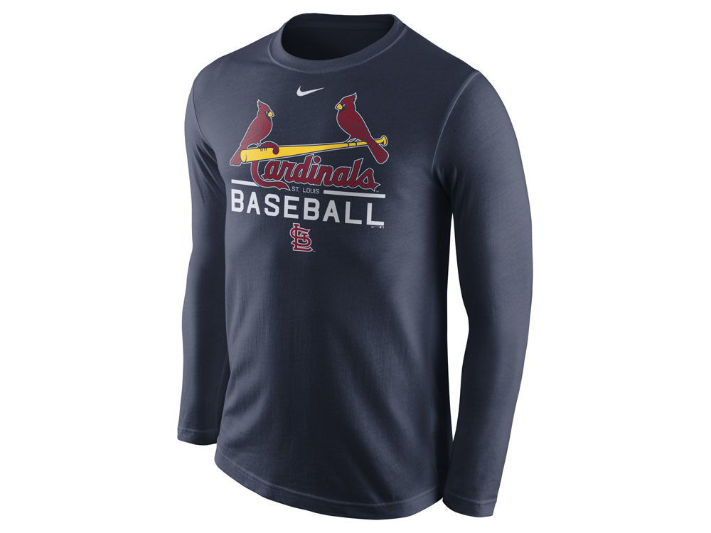 well-wreapped St. Louis Cardinals Nike MLB Men s Cotton Practice Long  Sleeve T- 8c2bfa4d7