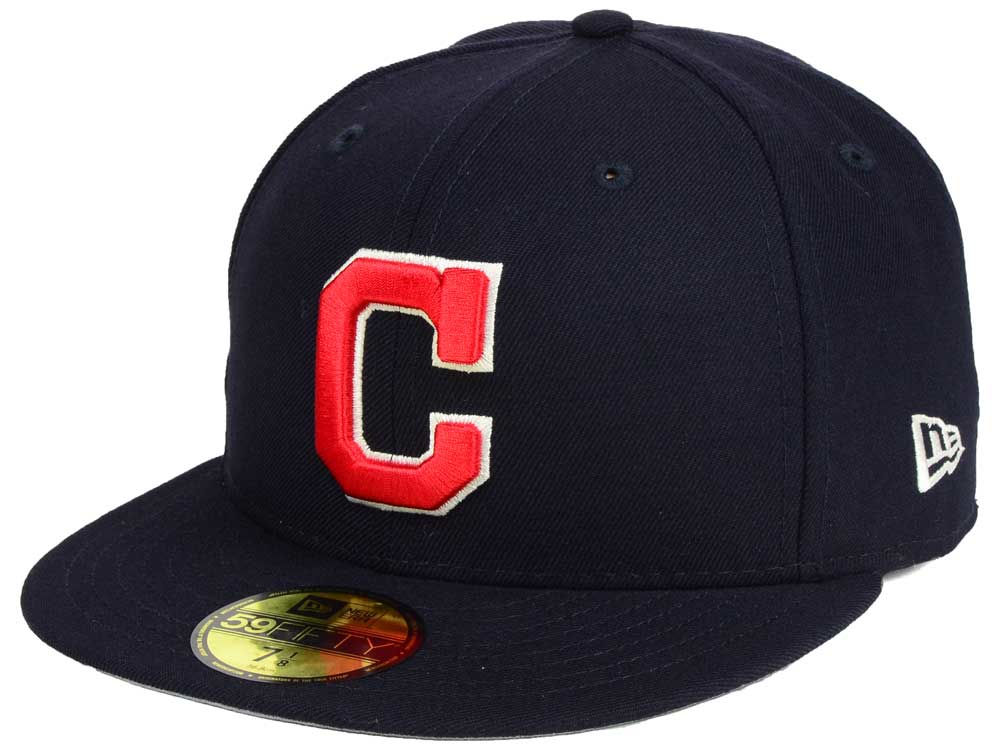 buy online 94559 a64be new Cleveland Indians New Era MLB Classic Gray Under 59FIFTY Cap