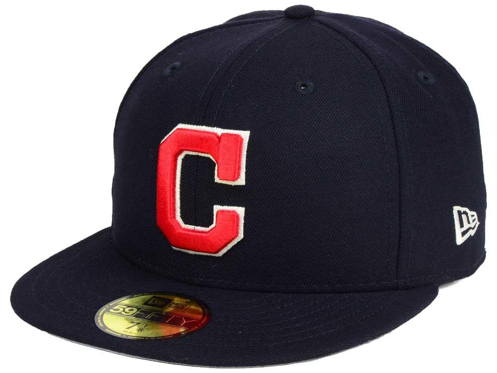 buy online d5222 3f9e0 new Cleveland Indians New Era MLB Classic Gray Under 59FIFTY Cap