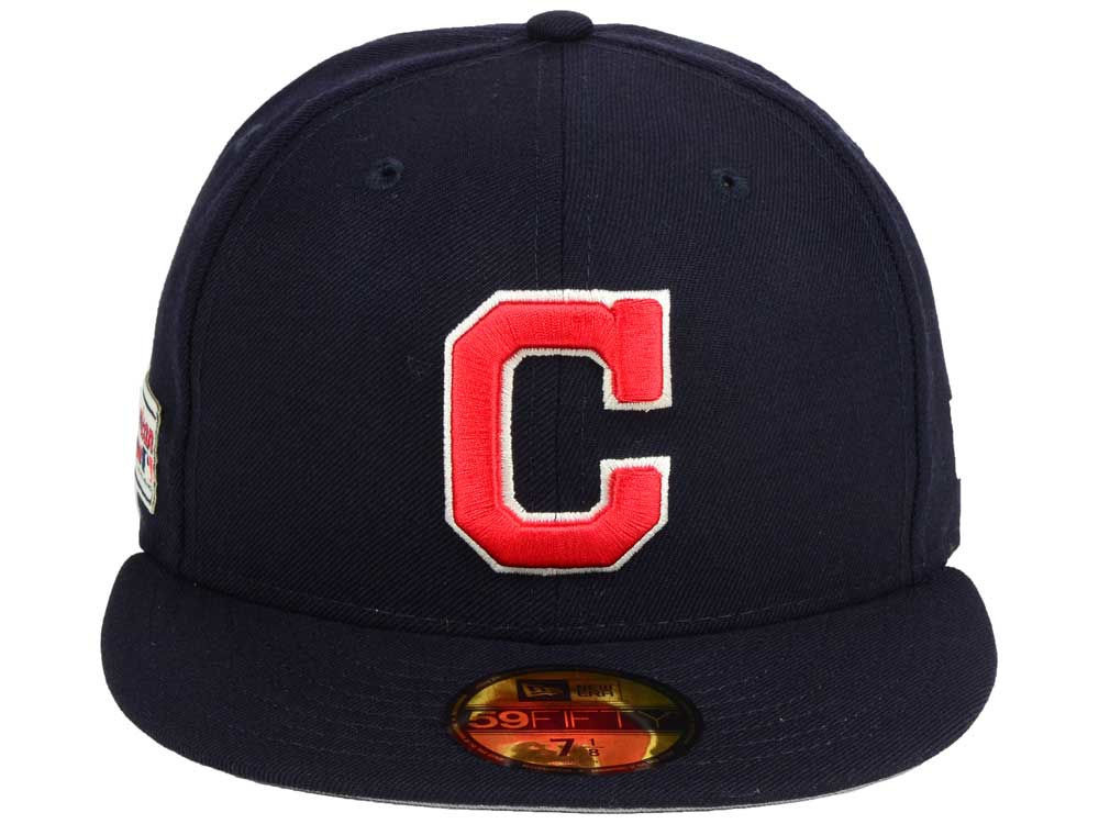 buy online c1762 ad46f new Cleveland Indians New Era MLB Classic Gray Under 59FIFTY Cap