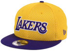 Los Angeles Lakers New Era NBA Hardwood Classics Tackle Trilled 9FIFTY Snapback Cap Adjustable Hats