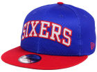 Philadelphia 76ers New Era NBA Hardwood Classics Tackle Trilled 9FIFTY Snapback Cap Adjustable Hats