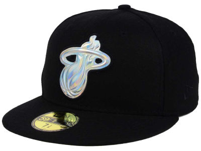 Miami Heat NBA Iridescent 59FIFTY Cap Hats