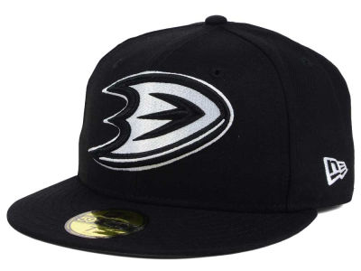 Anaheim Ducks NHL Black Dub 59FIFTY Cap Hats