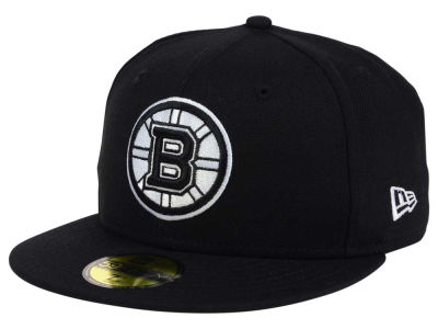 Boston Bruins NHL Black Dub 59FIFTY Cap Hats