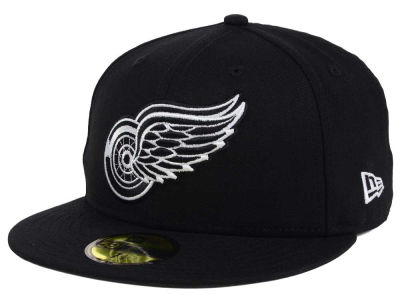 Detroit Red Wings NHL Black Dub 59FIFTY Cap Hats