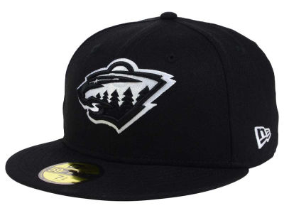 Minnesota Wild NHL Black Dub 59FIFTY Cap Hats