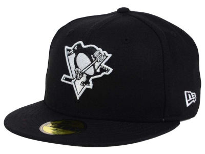 Pittsburgh Penguins NHL Black Dub 59FIFTY Cap Hats