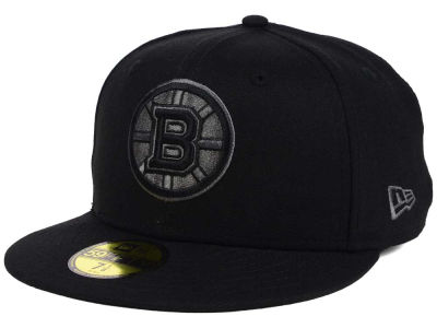 Boston Bruins NHL Black Graph 59FIFTY Cap Hats