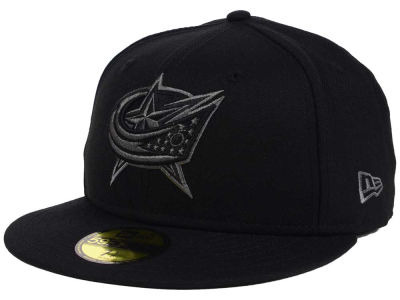 Columbus Blue Jackets NHL Black Graph 59FIFTY Cap Hats