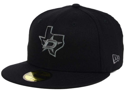 Dallas Stars NHL Black Graph 59FIFTY Cap Hats