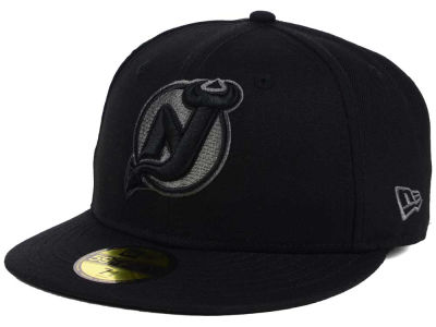 New Jersey Devils NHL Black Graph 59FIFTY Cap Hats