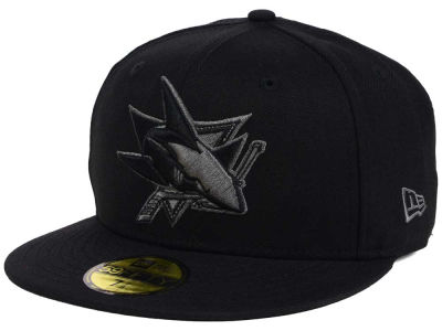 San Jose Sharks NHL Black Graph 59FIFTY Cap Hats