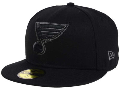 St. Louis Blues NHL Black Graph 59FIFTY Cap Hats