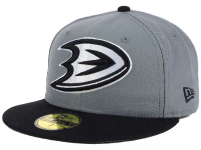Anaheim Ducks NHL Gray Black 59FIFTY Cap Hats