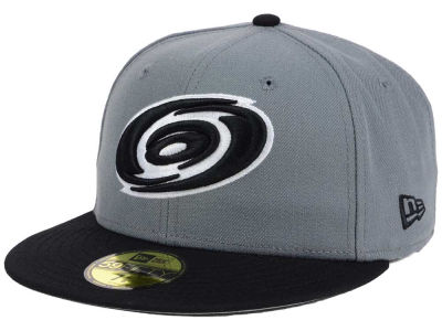 Carolina Hurricanes NHL Gray Black 59FIFTY Cap Hats