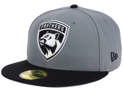 Florida Panthers NHL Gray Black 59FIFTY Cap Hats