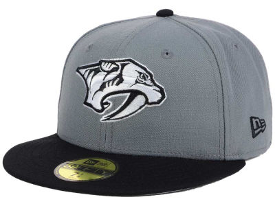 Nashville Predators NHL Gray Black 59FIFTY Cap Hats