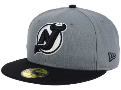 New Jersey Devils NHL Gray Black 59FIFTY Cap Hats