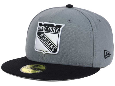 New York Rangers NHL Gray Black 59FIFTY Cap Hats