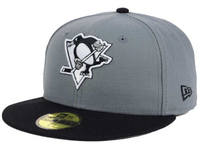Pittsburgh Penguins NHL Gray Black 59FIFTY Cap Hats