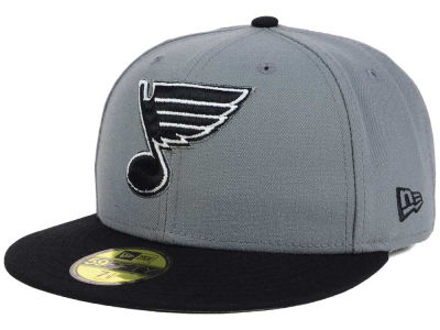 St. Louis Blues NHL Gray Black 59FIFTY Cap Hats