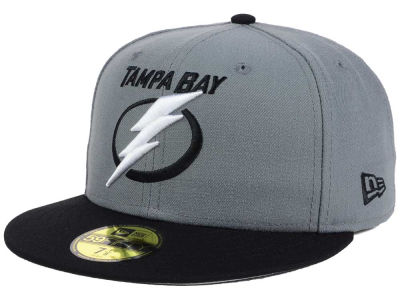 Tampa Bay Lightning NHL Gray Black 59FIFTY Cap Hats
