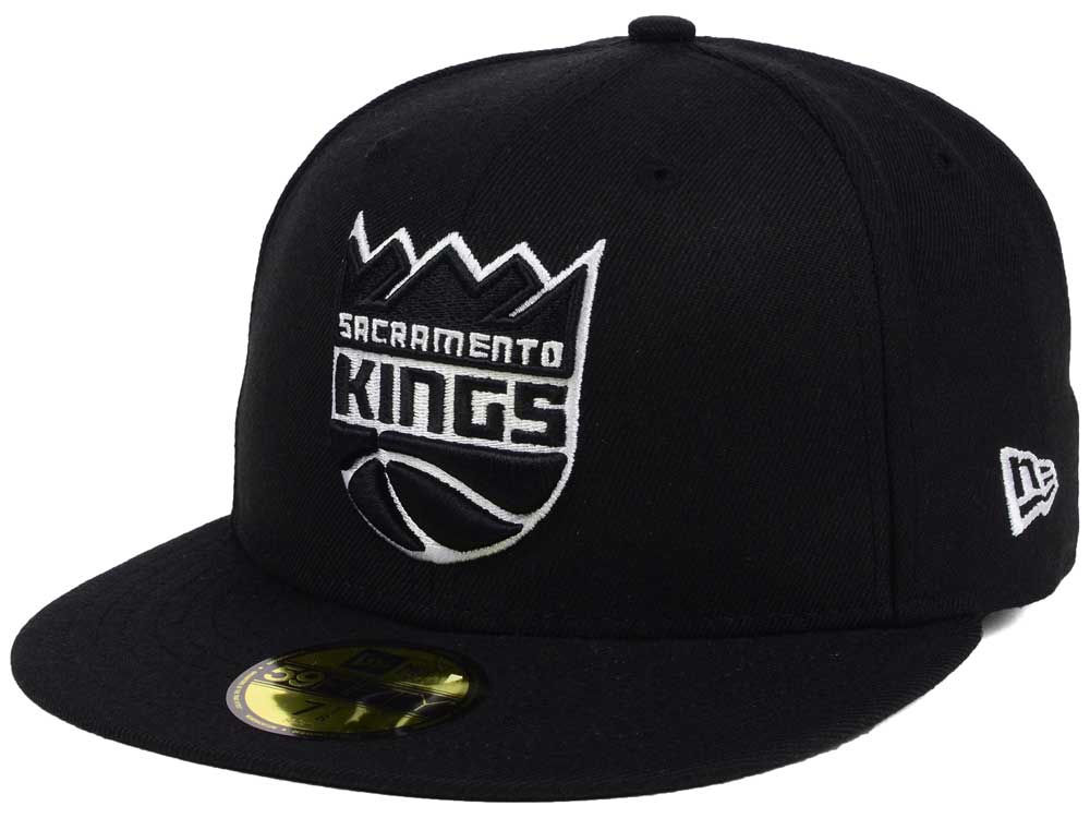 online retailer d8ccb 73b27 ... hat black gray under brim 26bd1 dac30 spain durable modeling sacramento  kings new era nba black white 59fifty cap e040d d6209 canada mens ...