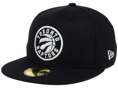 Toronto Raptors NBA Black White 59FIFTY Cap Hats