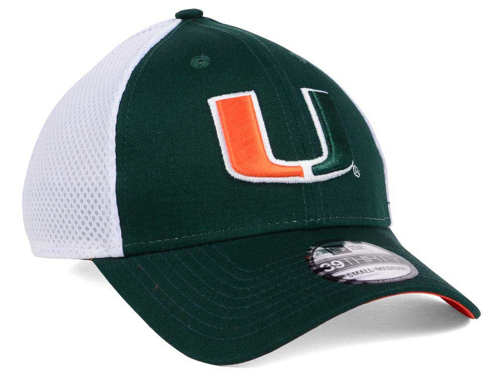 on sale 3915d 7727b ... promo code for new miami hurricanes new era ncaa neo 39thirty cap aaa15  5f36d