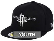 New Era NBA Kids Black White 59FIFTY Cap Fitted Hats
