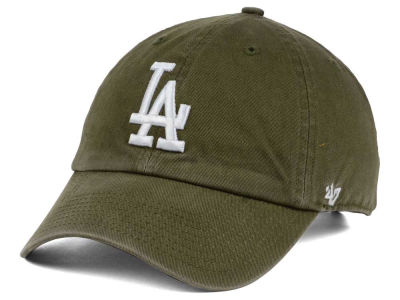 Los Angeles Dodgers  47 MLB Olive White  47 CLEAN UP Cap  25dbf0d7c24e