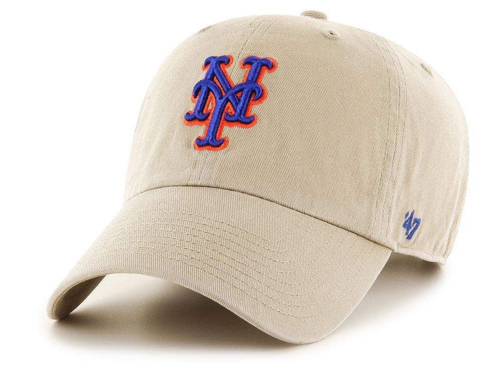 d8c91b56062 lovely New York Mets  47 MLB Khaki  47 CLEAN UP Cap - ekurs ...
