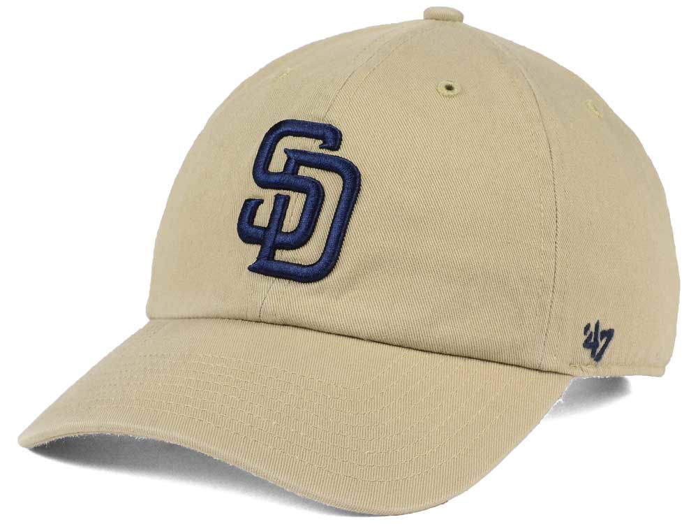half off 62139 afbf3 ... best price san diego padres 47 mlb khaki 47 clean up cap durable  modeling 04a7e c64ff