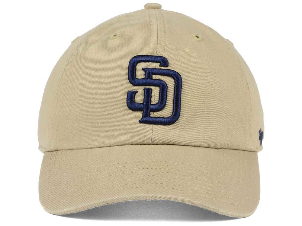 best sneakers c3791 cc19c ... best price san diego padres 47 mlb khaki 47 clean up cap durable  modeling 2a7bd c2753