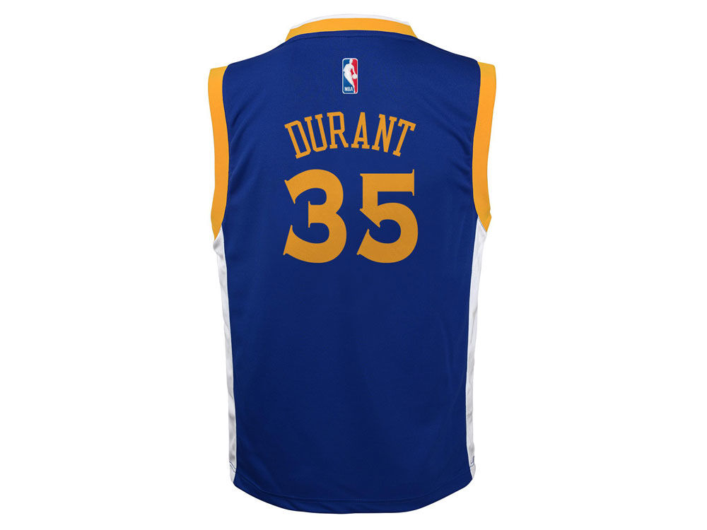 ec0568f548a Golden State Warriors Kevin Durant Youth NBA Revolution 30 Jersey new