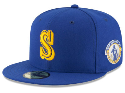 Seattle Mariners Ken Griffey Jr. MLB Ken Griffey Jr On-Field AC Patch 59FIFTY Cap Hats