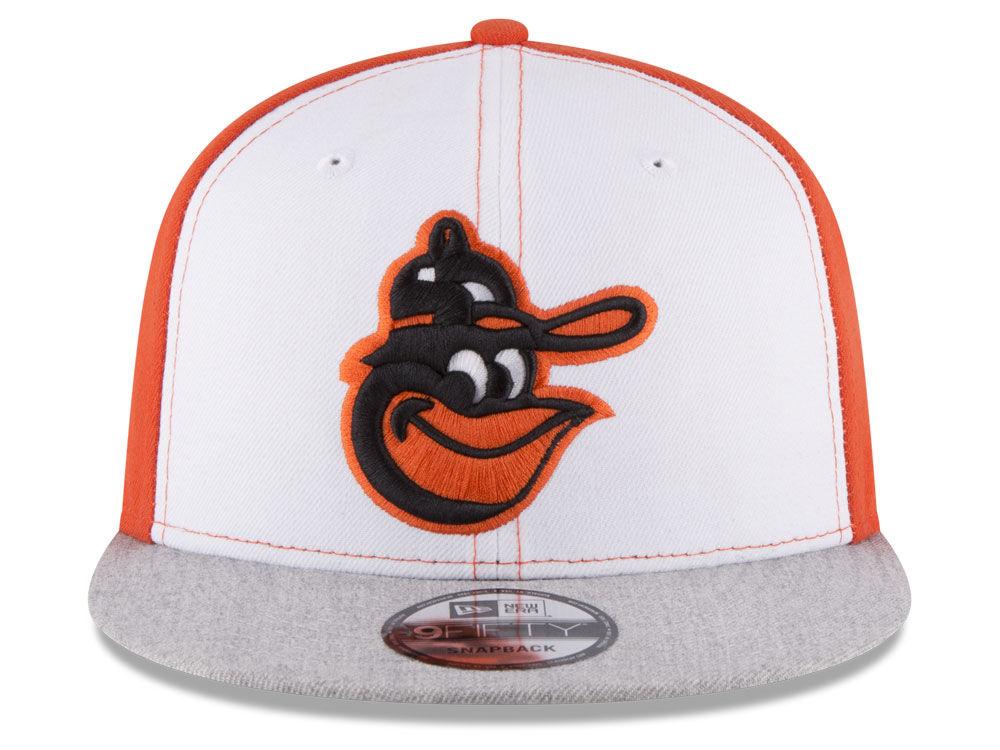 Baltimore Orioles New Era MLB Heather VIze 9FIFTY Snapback Cap 50 ... b72cb38e1b6c