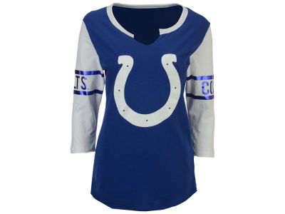5th & Ocean NFL Women's V-Notch Long Sleeve T-Shirt