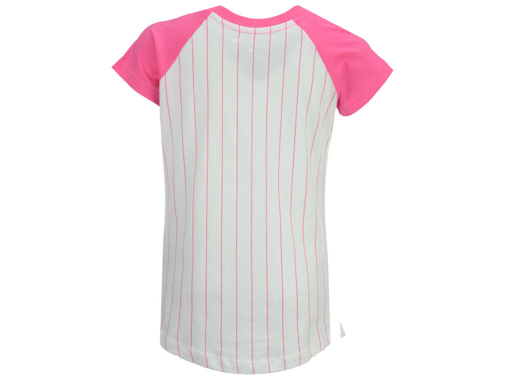 New York Yankees Mlb Girls Pinstripe T Shirt Free Shipping