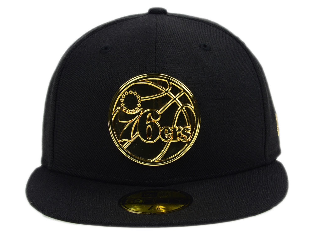 Philadelphia 76ers New Era NBA Current O Gold 59FIFTY Cap delicate ... a814c6bbc