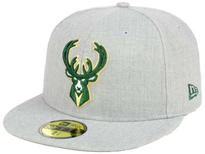 Milwaukee Bucks NBA All Heather 59FIFTY Cap Hats