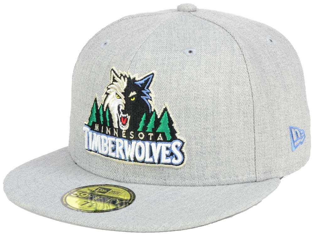 best website 311c2 28751 ... sale delicate minnesota timberwolves new era nba all heather 59fifty cap  ba54a 00435
