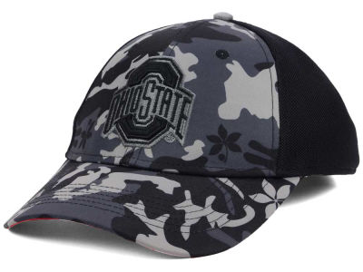 J America NCAA Camo Structured Flex Cap Hats