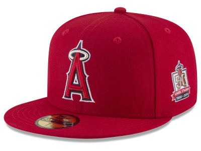 Los Angeles Angels 2016 MLB 50th Anniversary Patch 59FIFTY Cap Hats