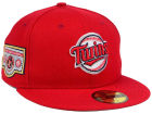 Minnesota Twins New Era MLB Banner Patch 2.0 59FIFTY Cap Fitted Hats